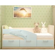 """Кровать """"Дельфин"""" глянец 1,6*0,8"""