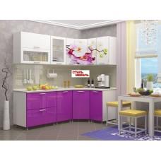 """Кухня угловая """"Орхидея/Персик"""" 2,13*1,23"""