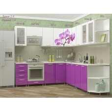"Кухня угловая ""Орхидея"" 2,4*2,6м"