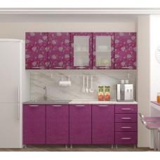 """Кухня """"Азалия фиолетовая глянец"""" 2 м"""